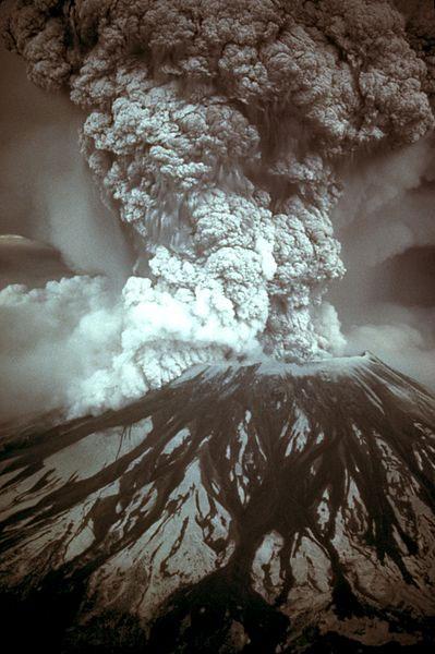 Mount Saint Helens Erupting